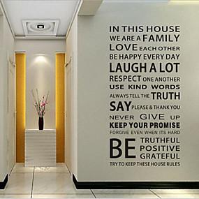preiswerte Haus & Garten-Dekorative Wand Sticker - Worte & Zitate Wandaufkleber Worte & Zitate Wohnzimmer / Schlafzimmer / Esszimmer / Abziehbar