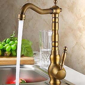 preiswerte Sensationsangebote-Armatur für die Küche - Ein Loch Antikes Messing Bar / Prep deckenmontiert Moderne Kitchen Taps / Einhand Ein Loch