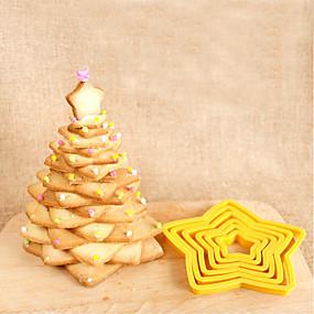 preiswerte Plätzchen-Werkzeuge-6 stücke fünf sterne kuchenform cookie back stanzwerkzeug keks form