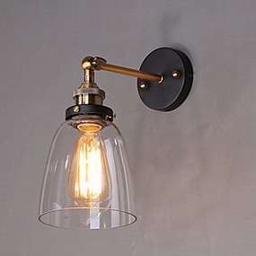 cheap Indoor Wall Lights-Rustic / Lodge Wall Lamps & Sconces Metal Wall Light 110-120V / 220-240V 60W