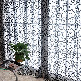 preiswerte Vorhänge und Gardinen-Vorhänge drapiert Ein Panel W99cm×L200cm Weiß / Wohnzimmer