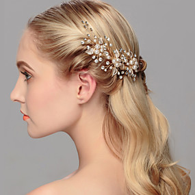 cheap Wedding & Party Jewelry-Pearl Headwear / Hair Pin with Floral 1pc Wedding / Special Occasion / Casual Headpiece