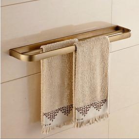 preiswerte Duschvorhänge-Handtuchhalter Moderne Messing 1 Stück - Hotelbad 2-Turm-Bar