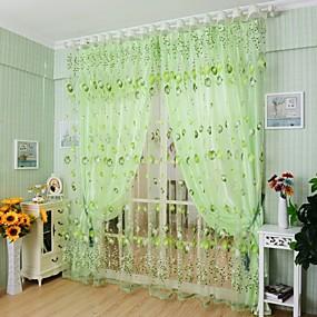 preiswerte Vorhänge und Gardinen-Landhaus Stil Gardinen Shades Ein Panel Wohnzimmer   Curtains / Jacquard
