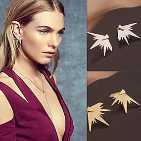 preiswerte Schmuck & Armbanduhren-Damen Ohrstecker Gestlyte Ohrringe Vorne Hinten Ohrringe Schmuck Silber / Golden Für Hochzeit Party Alltag Normal