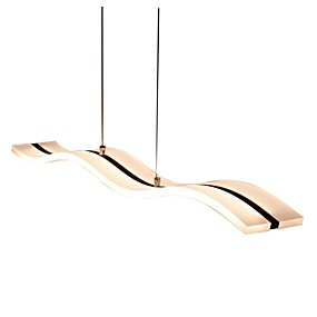 economico Lampadari pendenti-Lightinthebox 11.8 cm Con LED Luci Pendenti Acrilico Lineare Cromo Contemporaneo moderno 90-240V