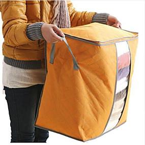 preiswerte Bolsas & Chapéus-Textil Kunststoff Oval Mit Verschluss Zuhause Organisation, 1pc Lagerungskisten
