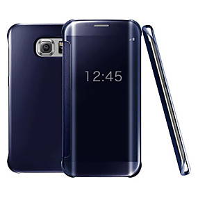 cheap Samsung Case-Case For Samsung Galaxy S9 / S9 Plus / S8 Plus Plating / Mirror / Flip Full Body Cases Solid Colored Hard PC / Transparent