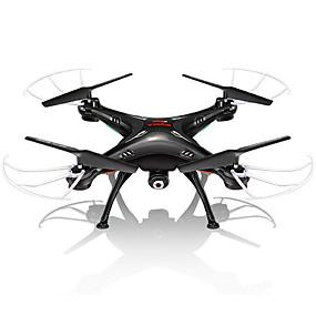 preiswerte SYMA®-RC Drohne SYMA X5SW 4 Kan?le 6 Achsen 2.4G Mit 0.3MP HD-Kamera Ferngesteuerter Quadrocopter FPV / Kopfloser Modus / 360-Grad-Flip Flug Fernsteuerung / Kamera / USB Kabel / Mit Kamera