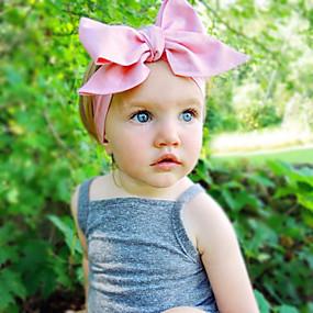 preiswerte Weihnachten-Baby Mädchen Süß Alltag Solide Schleife Baumwolle Haarzubehör Purpur / Blau / Rosa Einheitsgröße / Stirnbänder