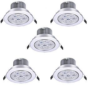 cheap LED Recessed Lights-5pcs 7 W LED Spotlight LED Ceilling Light Recessed Downlight 7 LED Beads High Power LED Decorative Warm White Cold White 85-265 V / RoHS / 90