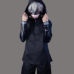 preiswerte 2019 Fantasias & Cosplay-Inspiriert von Tokyo Ghoul Ken Kaneki Anime Cosplay Kostüme Japanisch Cosplay Kostüme Solide Langarm Mantel / Top / Hosen Für Herrn