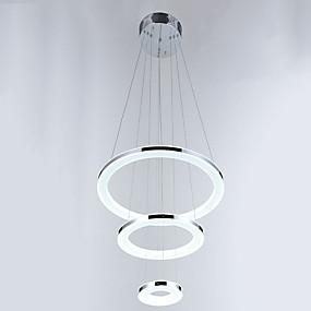 povoljno Stropna svjetla i ventilatori-Privjesak Svjetla Ambient Light Chrome Metal Acrylic Crystal, LED 110-120V / 220-240V Meleg fehér / Hladno bijela Bulb Included / Integrirano LED svjetlo / CE / FCC / Roš