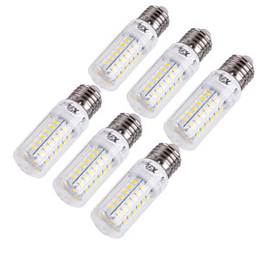 cheap Light Bulbs-YouOKLight 6pcs 15 W LED Corn Lights 1350 lm E14 E26 / E27 T 56 LED Beads SMD 5730 Decorative Warm White Cold White 220-240 V 110-130 V / 6 pcs / RoHS