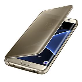 povoljno Maske za mobitele-Θήκη Za Samsung Galaxy S8 Plus / S8 / S7 edge Automatsko gašenje / buđenje / Pozlata / Zrcalo Korice Jednobojni PC / Prozirno