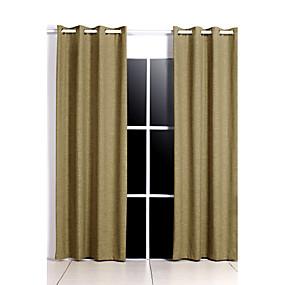 preiswerte Vorhänge & Gardinen-Vorhänge Vorhänge zwei Panels Schlafzimmer einfarbigen Polyester-Druck