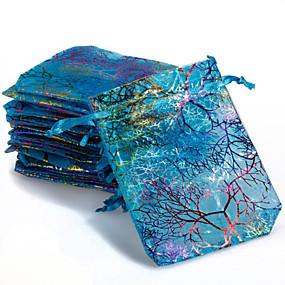 preiswerte Other Geh?use Organisation-10 stücke bunte kordelzug korallen blume süßigkeiten geschenk taschen schmuckbeutel 9x12 cm
