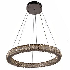 povoljno Lámpatestek-Cirkularno Lusteri Downlight Electroplated Metal Crystal, LED 110-120V / 220-240V Meleg fehér / Hladno bijela Uključen je LED izvor svjetlosti / Integrirano LED svjetlo / 4-pin
