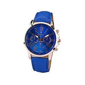 preiswerte Damenuhren-Geneva Damen Uhr Armbanduhr Quartz Gestepptes PU - Kunstleder Schwarz / Weiß / Blau Armbanduhren für den Alltag Analog damas Charme Modisch Grün Blau Rosa / Ein Jahr / Ein Jahr / SSUO 377