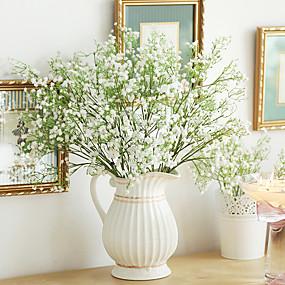 preiswerte Kunstblume-Künstliche Blumen 1 Ast Moderner Stil Schleierkraut Tisch-Blumen