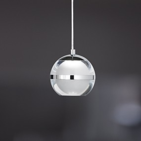 cheap Mini-Style Pendant Lights-UMEI™ Globe Pendant Light Ambient Light Chrome Metal Acrylic LED 110-120V / 220-240V Warm White / Cold White LED Light Source Included / LED Integrated / FCC
