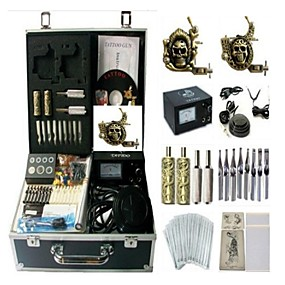 cheap Starter Tattoo Kits-BaseKey Professional Tattoo Kit Tattoo Machine - 2 pcs Tattoo Machines Analog power supply 2 alloy machine liner & shader / Case Included