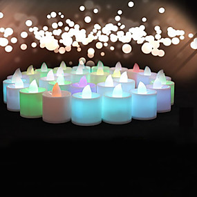 preiswerte LED-Lampen-Kerzen & Kerzenständer Acryl Hochzeits-Dekorationen Weihnachten / Halloween / Geburtstag Strand / Garten / Blumen Frühling / Sommer / Herbst