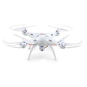 preiswerte SYMA®-RC Drohne SYMA X5SW 4 Kan?le 6 Achsen 2.4G Mit 2.0MP HD - Kamera Ferngesteuerter Quadrocopter FPV / LED-Lampen / Kopfloser Modus Fernsteuerung / Kamera / USB Kabel / 360-Grad-Flip Flug / Schweben