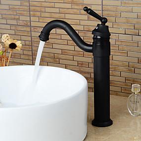 preiswerte Armaturen für Waschbecken-Waschbecken Wasserhahn - drehbar Öl-riebe Bronze Mittellage Einhand Ein LochBath Taps / Messing