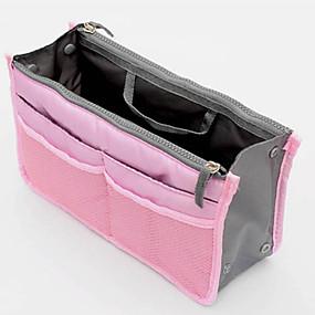 preiswerte Taschen-Unisex Reißverschluss Nylon Kosmetik Tasche Blau / Rosa / Gelb