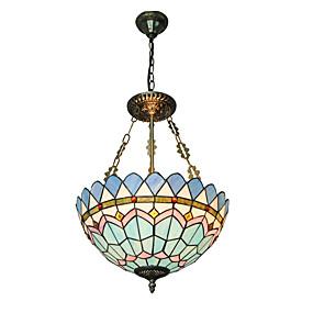 povoljno Tiffany rasvjeta-CXYlight 3-Light preokrenut Privjesak Svjetla Uplight Others Metal Glass Mini Style 110-120V / 220-240V Bulb not included / E26 / E27