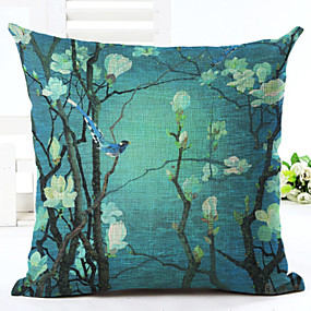 cheap Slipcovers-Cushion Cover 1PC Linen Soft Decorative Square Throw Pillow Cover Cushion Case Pillowcase for Sofa Bedroom 45 x 45 cm (18 x 18 Inch) Superior Quality Mashine Washable Pack of 1