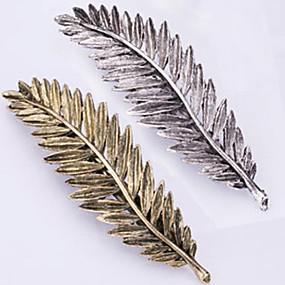 cheap Hair Accessories-new retro metal feather hair clips han edition spring clip bang clip 2 pcs