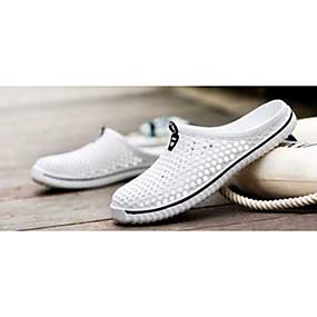 levne Větší obuv-Dámské Boty Tyl Guma Pohodlné Rovná podrážka S uzavřeným palcem pro Bílá Černá Červená Modrá Světle modrá