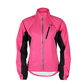 cheap Cycling & Motorcycling-TASDAN Women's Cycling Jacket Winter Bike Jacket Windbreaker Top Waterproof Windproof Breathable Sports Patchwork Black / Purple / Yellow Mountain Bike MTB Road Bike Cycling Clothing Apparel Relaxed