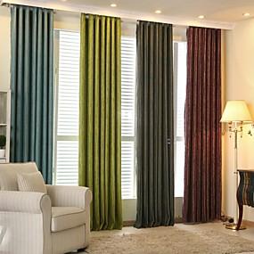 preiswerte Verdunkelungsvorhänge-Designer Verdunklungsvorhänge Vorhänge zwei Panele Wohnzimmer   Curtains / Jacquard