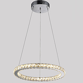 billige Forbedringer til hjemmet-Sirkelformet Anheng Lys Omgivelseslys galvanisert Metall Krystall, LED 110-120V / 220-240V Varm Hvit / Kald Hvit LED lyskilde inkludert / Integrert LED