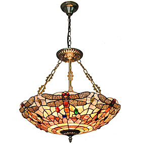 povoljno Tiffany rasvjeta-5-Light preokrenut Privjesak Svjetla Uplight Others Metal Shell Mini Style 110-120V / 220-240V Bulb not included / E26 / E27