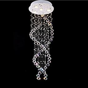povoljno Viseća rasvjeta-4-Light Privjesak Svjetla Downlight Electroplated Metal Crystal, LED 110-120V / 220-240V Meleg fehér / Hladno bijela Bulb Included / GU10
