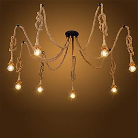 povoljno Stropna svjetla i ventilatori-Luster u obliku konopa u obliku glave od 8 glava dnevni boravak restoran privjesak svjetla kuhinja privjesak