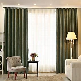 preiswerte Vorhänge & Gardinen-Designer Verdunklungsvorhänge Vorhänge zwei Panele Wohnzimmer   Curtains / Jacquard