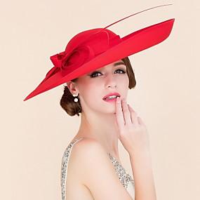 저렴한 Melbourne Cup Carnival Hats-패브릭 켄터키 더비 모자 / 모자 와 1 결혼식 / 특별한 때 / 캐쥬얼 투구