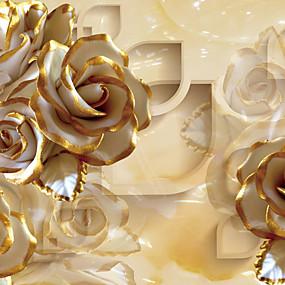 preiswerte Wand- & Ölbilder-Blumen Haus Dekoration Luxus Wandverkleidung, Segeltuch Stoff Klebstoff erforderlich Wandgemälde, Zimmerwandbespannung