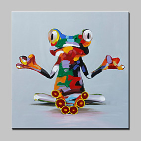 preiswerte Versandfertig in 24 Stunden-Hang-Ölgemälde Handgemalte - Pop - Art Modern Mit der Fassung / Gestreckte Leinwand