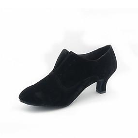 povoljno 11-11 rasprodaja-Žene Plesne cipele Brušena koža Moderna obuća / Standardni Ušivena čipka Štikle Kubanska potpetica Nemoguće personalizirati Crvena / Crno-bijeli / Crna / EU41