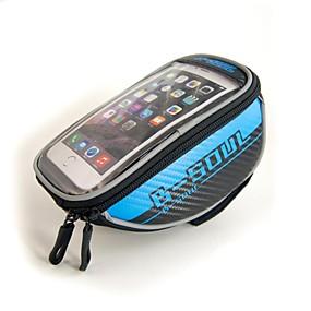 preiswerte Fahrradlenkertaschen-B-SOUL 1.5L Handy-Tasche Fahrradrahmentasche Fahrradlenkertasche Touchscreen Multifunktions Reflektierend Fahrradtasche Oxford Tasche für das Rad Fahrradtasche iPhone X / iPhone XR / iPhone XS