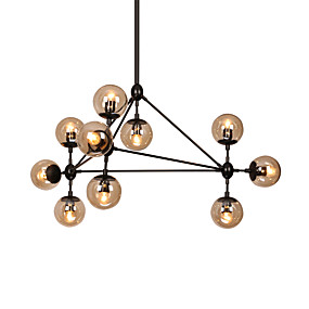 cheap Globe Design-10-Light 90 cm Dimmable / LED Chandelier Metal Glass Sputnik Painted Finishes Modern Contemporary 110-120V / 220-240V