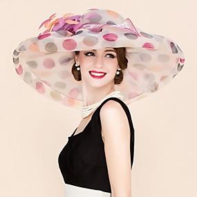 povoljno Melbourne Cup Carnival Hats-Organza Kentucky Derby Hat / Fascinators / kape s Cvijet 1pc Vjenčanje / Special Occasion / Kauzalni Glava