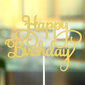 baratos Lembrancinhas & Presentes para Festas-Decorações de Bolo Tema Praia Tema Clássico Corações Papel de Cartão Aniversário com Laço 1 PPO