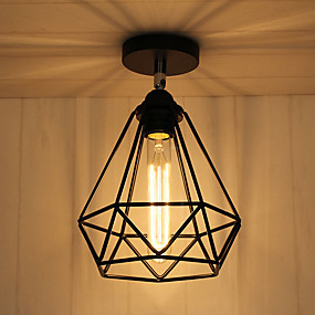 povoljno Lámpatestek-CXYlight Fenjer Flush Mount Ambient Light Slikano završi Metal Mini Style 110-120V / 220-240V Bulb not included / E26 / E27